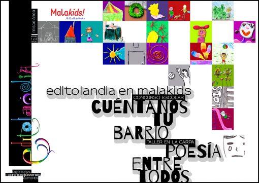 Cuéntanos tu barrio y poesía para todos, actividades de Editolandia